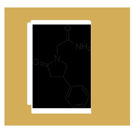 phenylpiracetam-molecule-with-gold